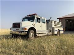 1991 International 4900 Fire Pumper Truck