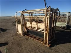 For-Most 450 Cattle Squeeze Chute W/Model 30 Head Gate