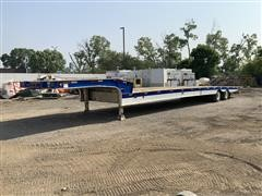 2006 Landoll 48' Hydraulic Traveling Tail T/A Flatbed Equipment Trailer