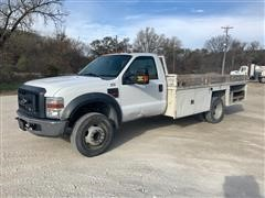2008 Ford F550XL Super Duty 2WD Flatbed Service Truck
