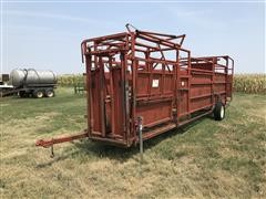 Stur-D Portable Cattle Chute/ Cattle Working System W/ Alley & Tub