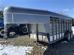 1998 Keifer Built T/A Gooseneck Livestock Trailer