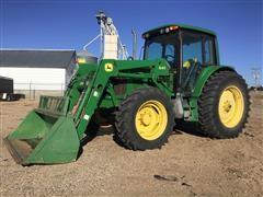 2004 John Deere 6420 MFWD Tractor W/Loader