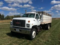 1995 GMC TopKick C7000 S/A Grain Truck