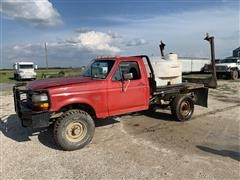 1992 Ford F350 4x4 Flatbed Truck