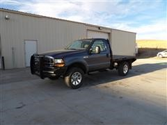 2006 Ford F350XL Super Duty 4x4 Flatbed Pickup