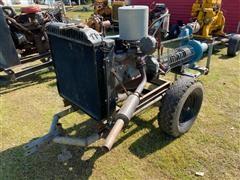 A Y McDonald YB 3x4 Portable Water Pump W/Chevrolet 292 Power Unit On Cart