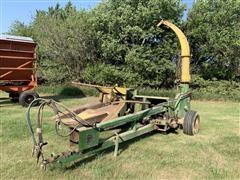 John Deere 3960 Silage Chopper W/Row Crop & Pickup Head