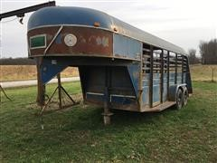 1985 Kiefer Built T/A Livestock Trailer