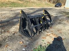 "60"" Skid Steer Brush Grapple Bucket"