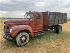 1949 International KBS-5 S/A Grain Truck W/Hoist