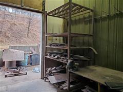 Freestanding Steel Rack & Contents