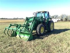 2007 John Deere 7430 MFWD Tractor W/Loader