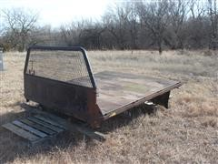 "Winkel 96-1/2"" Flatbed W/Headache Rack & Hitch"