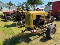 Fairbanks Morse 6x4 Portable Water Pump W/Minneapolis-Moline HD220-4A Power Unit On Cart