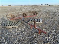 Tonutti 3-Pt 3-Wheel Hay Rake