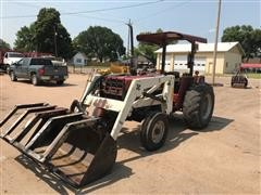 1989 Case IH 485 2WD Tractor & International Loader