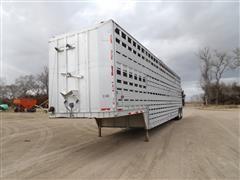1987 Barrett 1B9 T/A Semi Aluminum Livestock Trailer