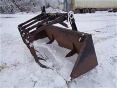 DU-AL 8' Dirt Bucket W/4-Tine Grapple Fork & Universal Mount Adapter