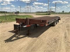 2001 Homemade T/A Flatbed Trailer