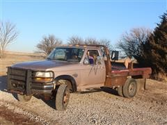 1997 Ford F350 4x4 Dually Pickup W/DewEze Hydraulic Bale Bed