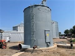 Butler 2500 Bu Grain Bin W/drying Floor