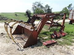 Farmhand 235A Front End Loader W/Grapple Forks