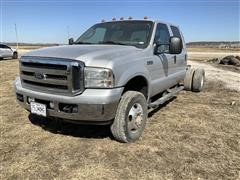2007 Ford F350 Lariat 4x4 Crew Cab & Chassis (INOPERABLE)