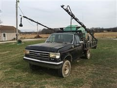 1990 Ford F250 4x4 Pickup W/ Flatbed & Sprayer