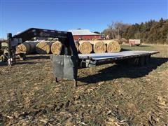 2015 Kiefer Built 1000 T/A Gooseneck Flatbed