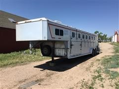 1986 Double L Aluminum T/A 5 Horse Slant Trailer W/Living Quarters