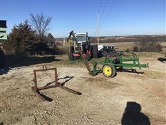 John Deere 37 Sickle Mower & 3-Pt Bale Forks