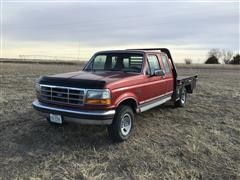 1992 Ford F150 4x4 Extended Cab Flatbed Pickup