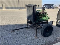 John Deere 6359D Portable Power Unit On Trailer