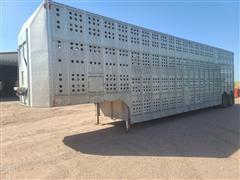 1983 Guthrie Aluminum T/A Livestock Trailer