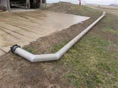 """Aluminum 6"""" Suction Pipe W/90-Degree Bend"""