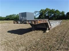 1988 Wilson Muv-All 4860TD 48' Hydraulic Dovetail Implement Trailer