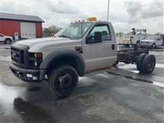 2008 Ford F550 XL Super Duty 4x4 Cab & Chassis