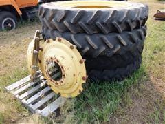 Goodyear DT800 320/90R50 Bar Tires On John Deere Wheels