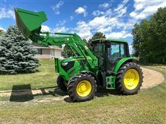 2013 John Deere 6105M MFWD Tractor & Loader