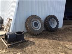 2015 Firestone Radial All Traction FWD Tires W/rims & Hub Spacers