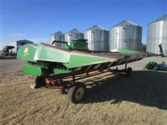 John Deere 853A 8R30 Rowhead W/Shop Built Trailer