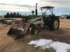 1963 John Deere 4010 2WD Tractor W/GB Loader (INOPERABLE)