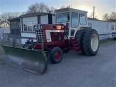 1973 International 766PFC 2WD Tractor W/John Deere Dozer/Snow Blade
