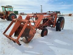 Farmall 460 2WD Tractor W/Loader (INOPERABLE)