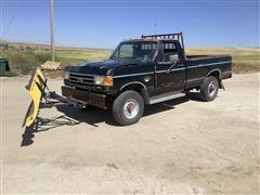 1989 Ford F250 4x4 Pickup W/Snow Plow