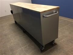 """2020 Siebel 96"""" Stainless Steel Work Bench Tool Chest"""