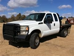 2011 Ford F250 4x4 Extended Cab Flatbed Pickup