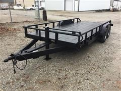 2001 Ark City 18' T/A Flatbed Trailer