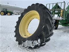 Michelin M28 620/70R46 Tractor Tire & Rim